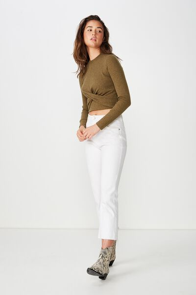 Devon Twist Front Long Sleeve, BEECH
