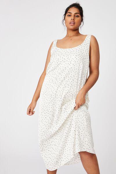 Curve Woven Maggie Slip Midi Dress, EDIE MINI STAR WINTER WHITE