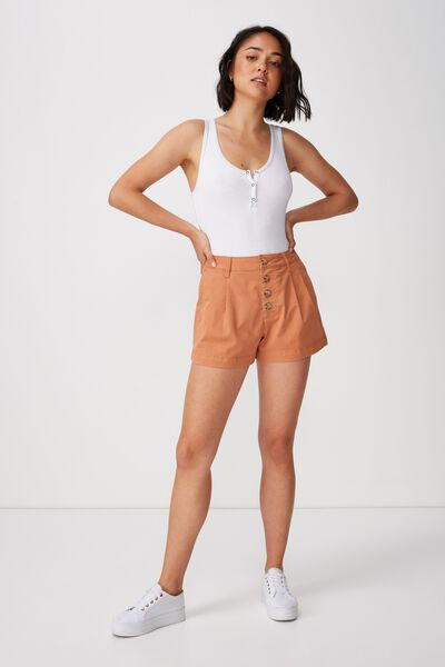 Button Front Short, SAHARA