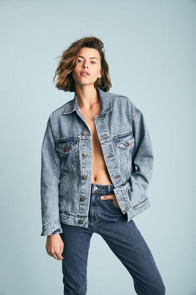 The Oversized Denim Jacket, AIREYS BLUE