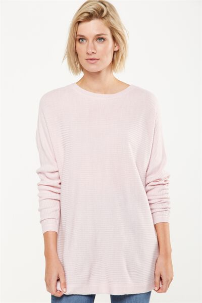 Batwing Lounge 2 Pullover, PINK MIST MARLE