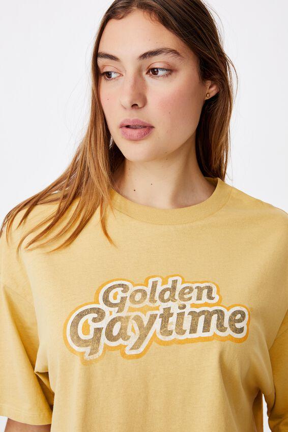 Chopped Boyfriend Lcn Tee, LCN STR GOLDEN GAYTIME/GOLDEN SUN