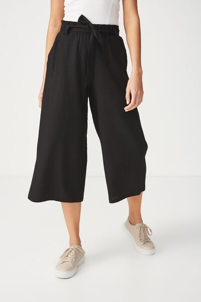 High Waist Culotte 2, BLACK
