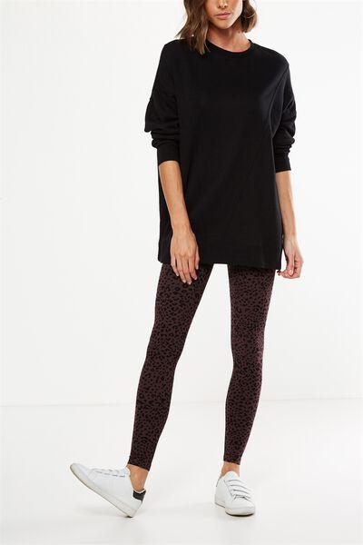 Tranquil Legging, LEOPARD/RAISIN BASE