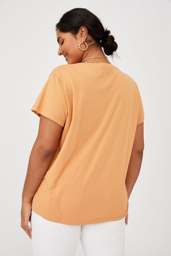 Curve Graphic Tee, THE MAGIC / PEARL