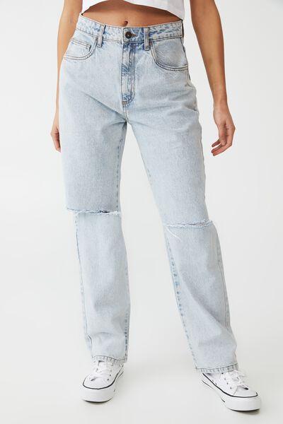 Petite Straight Jean, HENLEY BLUE RIP