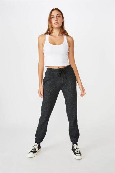 Slim Fit Trackpant, BLACK MARLE