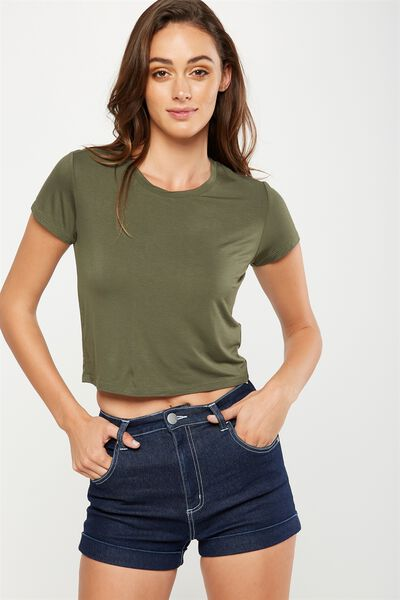 The Baby Tee, ARMY GREEN