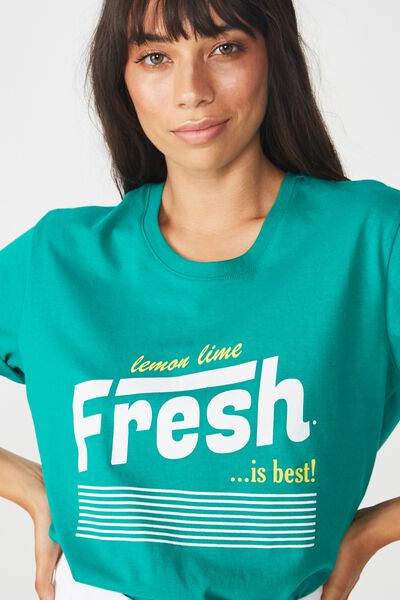 Classic Slogan T Shirt, FRESH IS BEST/LUSH MEADOW