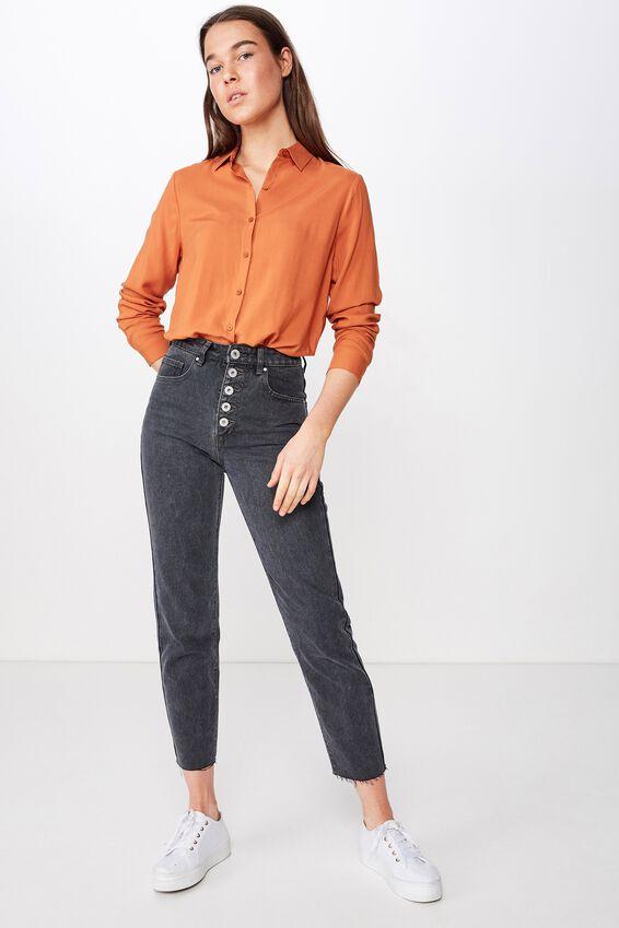 Rachel Everyday Shirt, RUST TAN