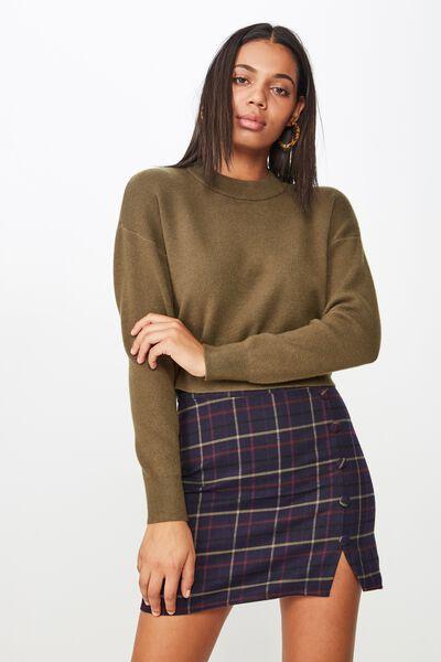 bf10a97b45a Woven Evie Button Mini Skirt