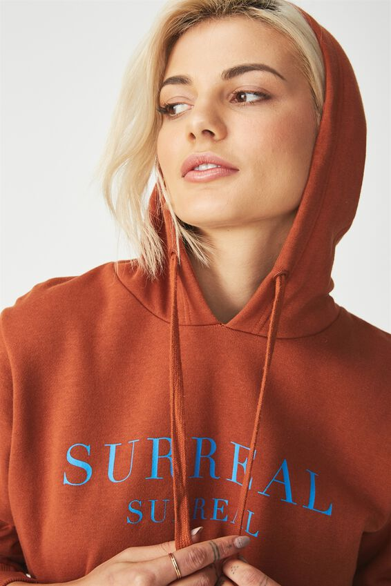Delevingne Graphic Hoodie, SURREAL/GINGERBREAD