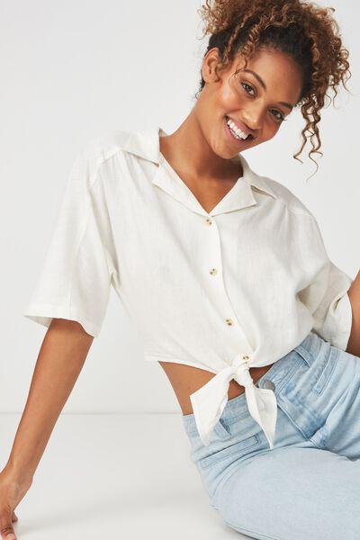 Cute Resort Shirt, WHITE