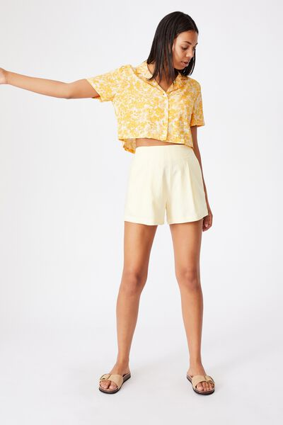 Cropped Summer Shirt, JULIA FLORAL MANGO