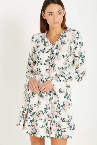 Woven Montana Drop Peplum Dress, CHERRY BLOSSOM MARSHMALLOW