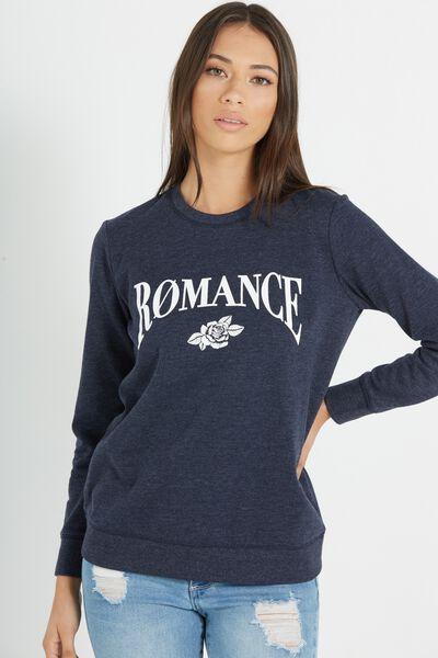 Fergi Graphic Fleece, ROMANCE/MOONLIGHT MARLE