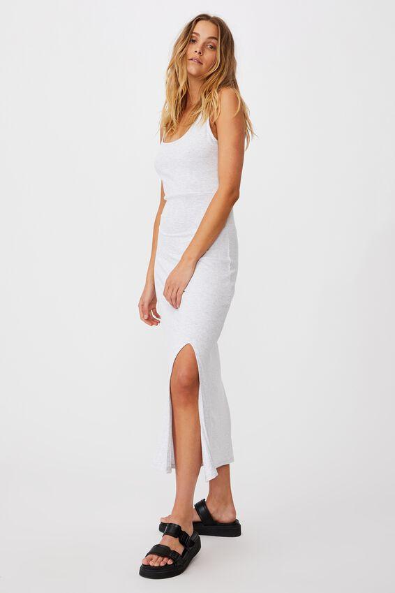Tonia Strappy Midi Dress, LIGHT GREY MARLE