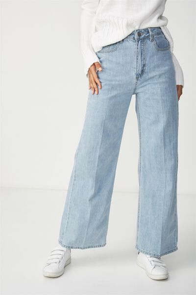High Rise Wide Leg Jean, BLEACH BLUE