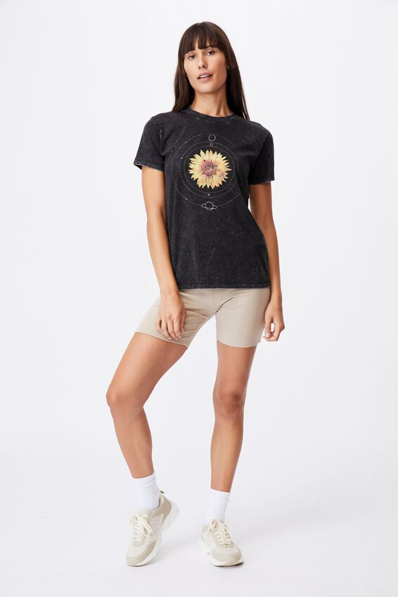 Classic Arts T Shirt, CELESTIAL SUNFLOWER/BLACK