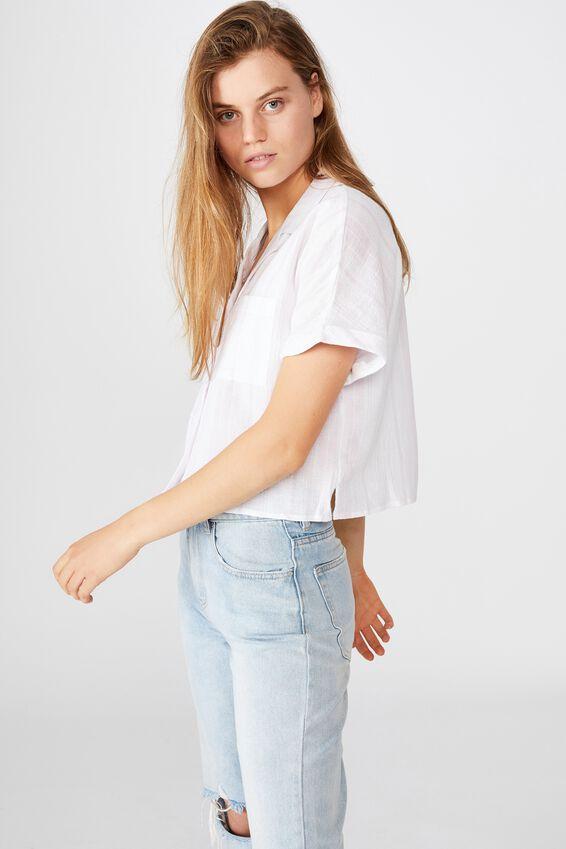 Erin Short Sleeve Shirt, SIENNA STRIPE ORCHID