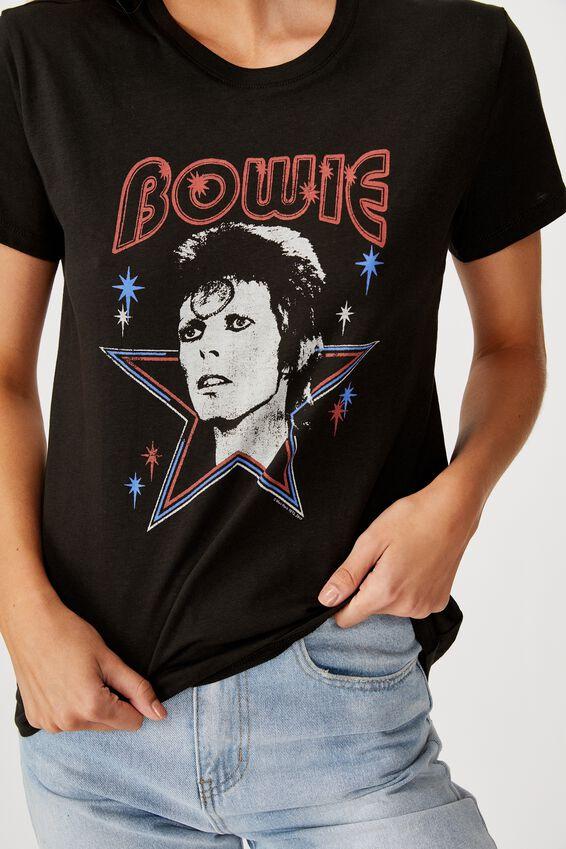 Classic Band T Shirt, LCN PER DAVID BOWIE STAR/BLACK
