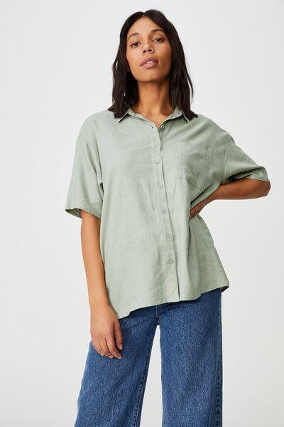 Dad Short Sleeve Shirt, SAGE