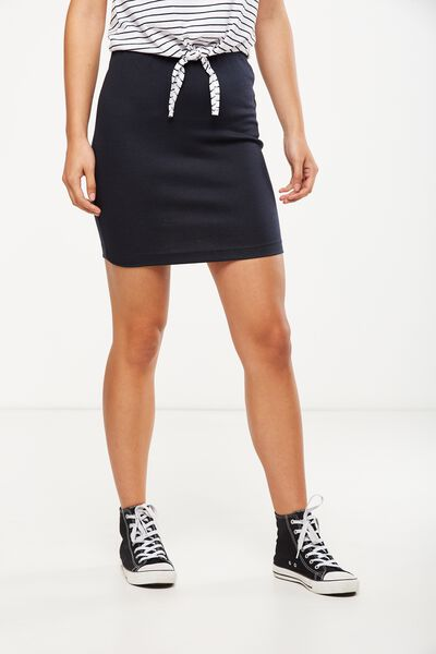 Poppy Pull On Mini Skirt, MOONLIGHT
