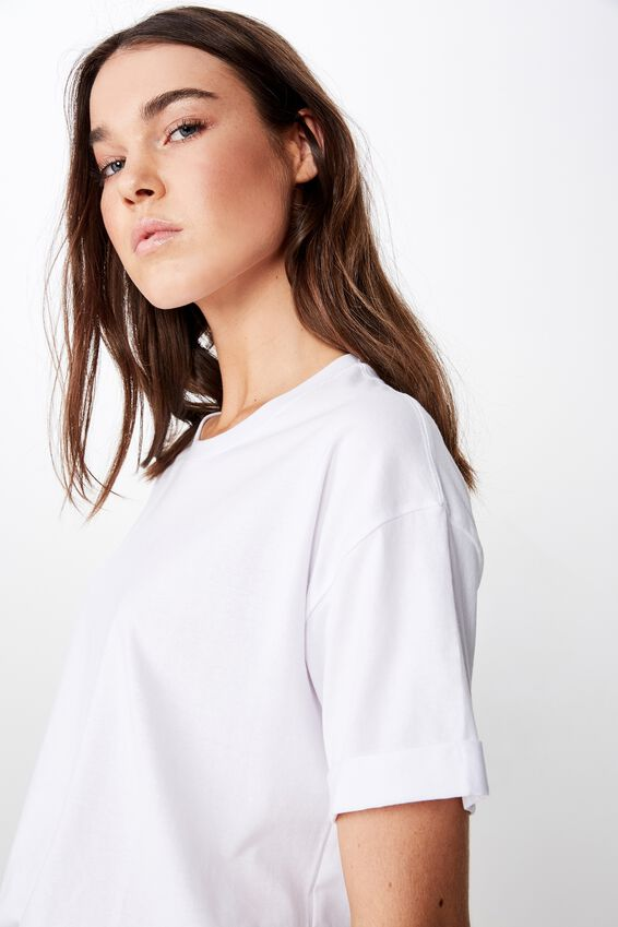 The Relaxed Boyfriend Tee, WHITE