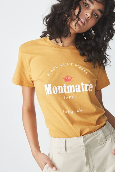Tbar Fox Graphic T Shirt, MONTMATRE/SPRUCE YELLOW