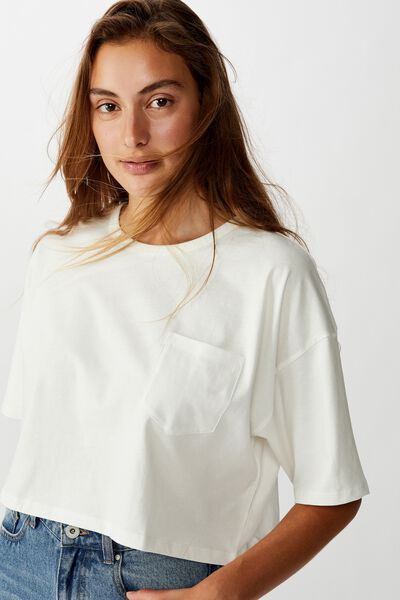 The Slouch Pocket Tee, GARDENIA
