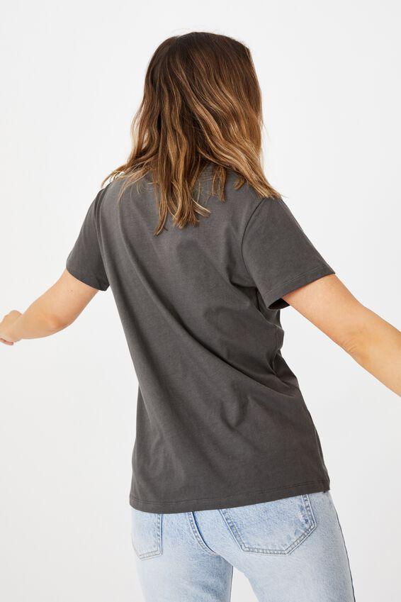 Classic Band T Shirt, LCN LED ZEPPELIN ANGEL GREYSCALE/EBONY