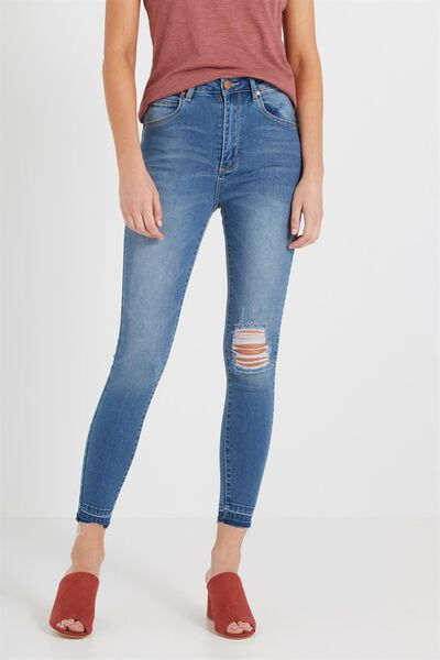 High Rise Grazer Skinny Jean, URBAN BLUE DECON