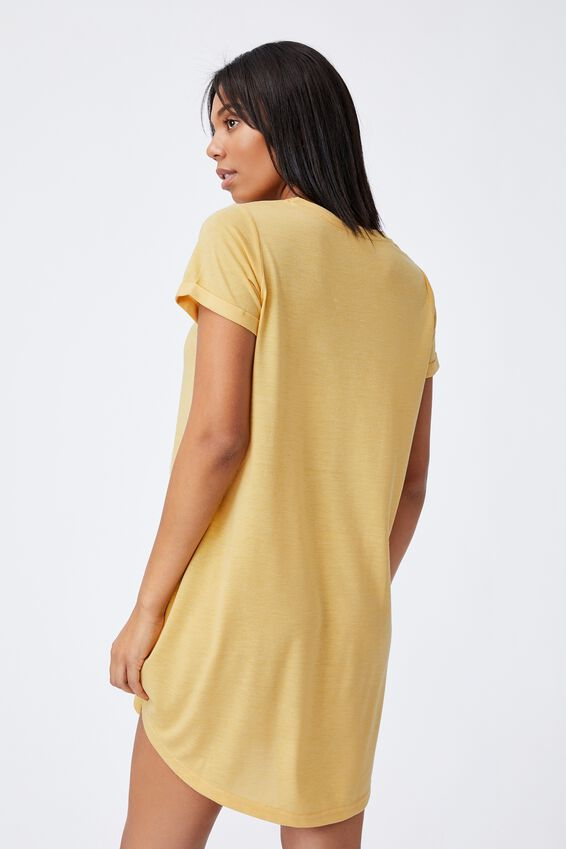 Tina Tshirt Dress 2, GOLDEN HOUR YELLOW MARLE