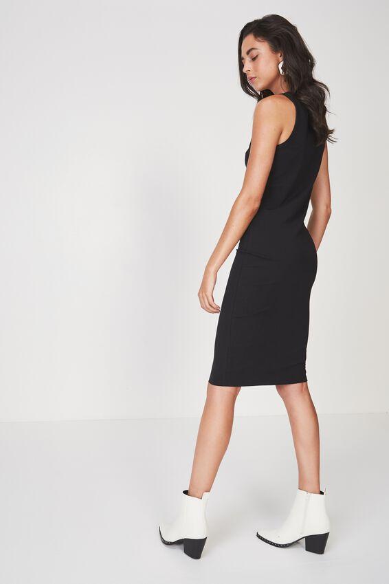 Lena Midi Dress, BLACK