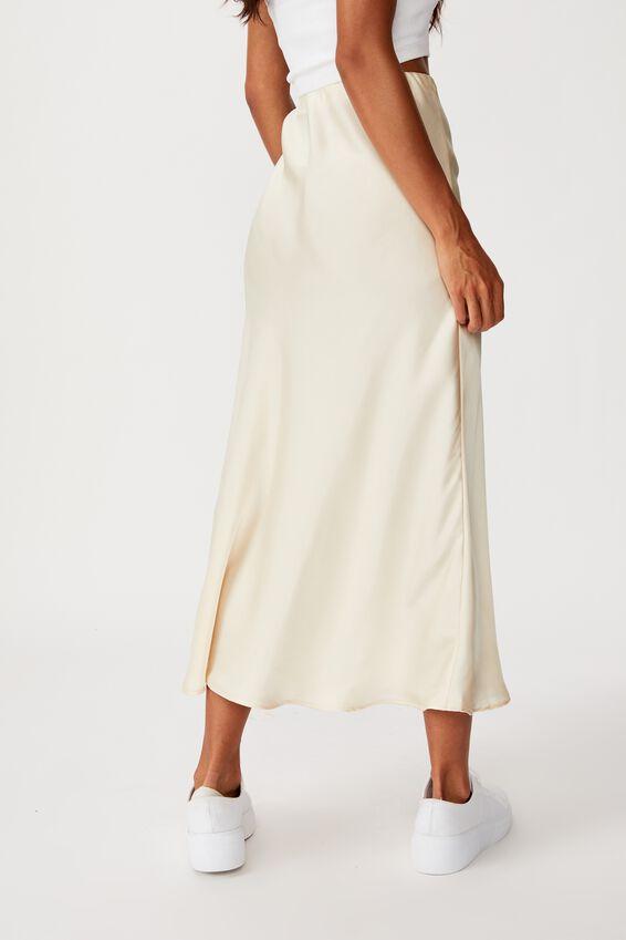 Belle Bias Midi Skirt, CHAMPAGNE