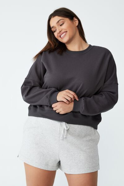 Curve Classic Crew Neck Pullover, FORGED IRON