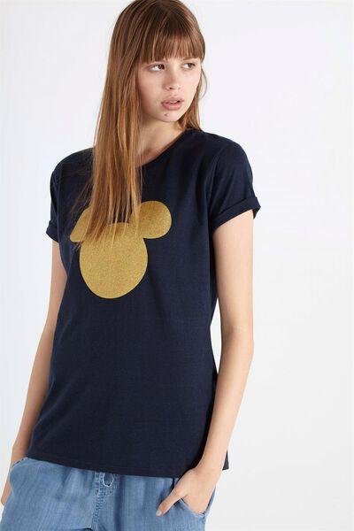 Tbar Fox Graphic T Shirt, LCN CNY MICKEY/MOONLIGHT