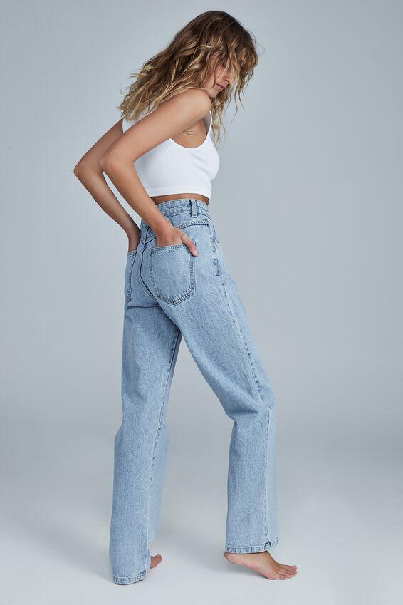 Long Straight Jean, LENNOX BLUE