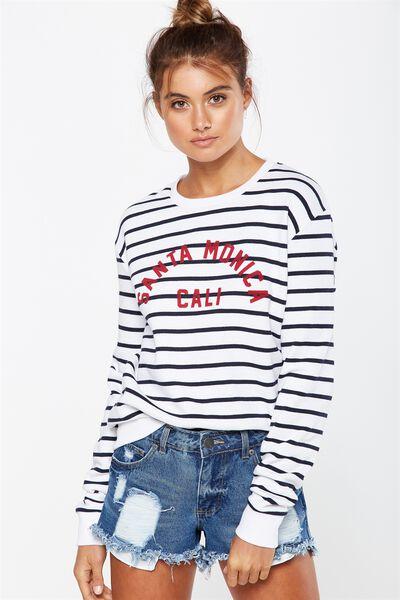 Ferguson Graphic Crew Sweater, SANTA MONICA MOONLIGHT STRIPE/WHITE