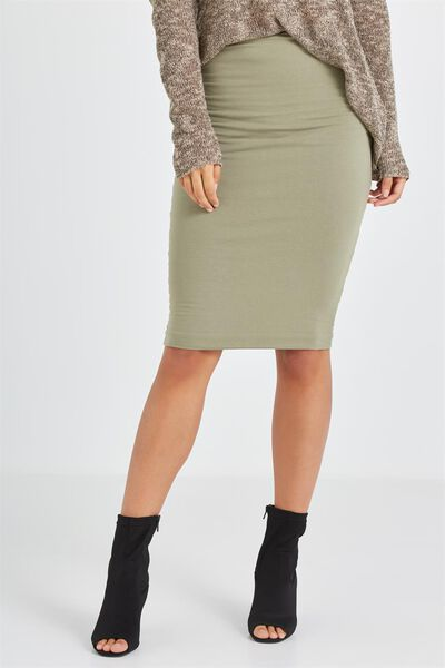 Midi Tube Skirt, SOOT
