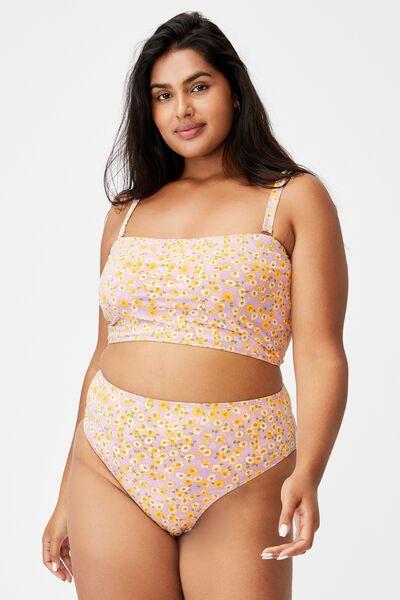 Curve Bandeau Bikini Top, SALLY DAISY SOFT ORCHID