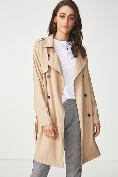 Hannah Soft Mid Trench, STONE