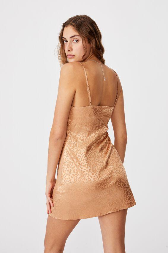 Woven Kerr Strappy Mini Dress, SUMMER SAND LEOPARD