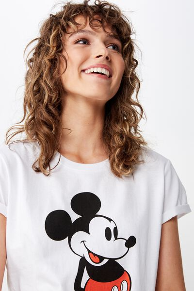 Classic Mickey And Co T Shirt, LCN DIS MICKEY FRONT & BACK/WHITE