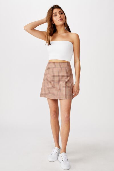 Aspen Check Mini Skirt, IMOGEN CHECK SIERRA