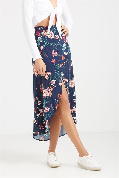 Woven Alfie Maxi Skirt, TASIA FLORAL MOOD INDIGO