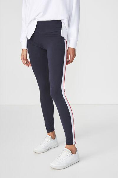 Dakota Detail Legging, MOONLIGHT CHILI RED/WHITE SPLICE
