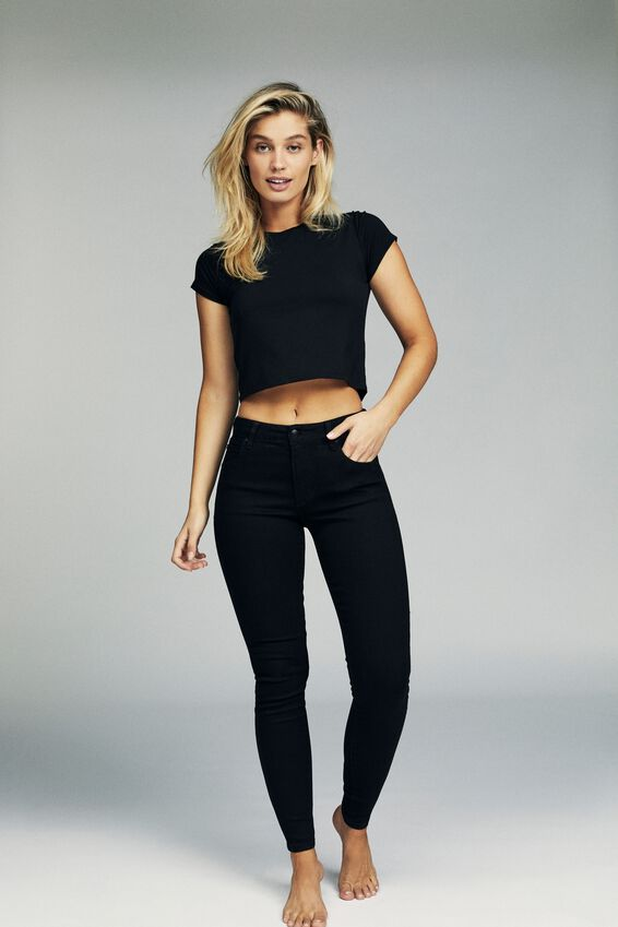 Mid Rise Skinny Jean, CORE BLACK