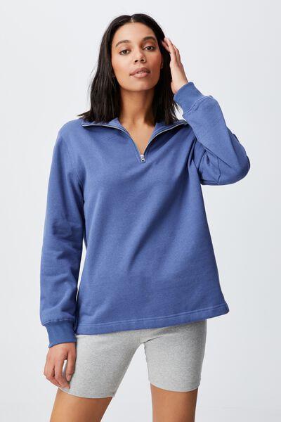 Classic 1/4 Zip Pullover, COASTAL BLUE