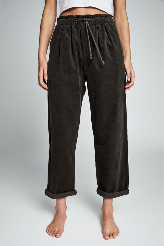 Slouch Cord Pant, RAVEN